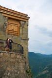 Homme et femme dans la robe nationale géorgienne Photographie stock libre de droits