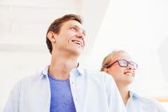 Homme et femme dans une équipe Photos stock