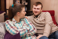 Homme et femme dans une querelle Photos libres de droits