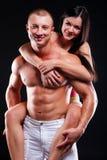 Homme et femme de forme physique Images libres de droits