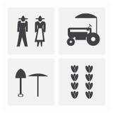 homme et femme de jardinier d'agriculteur d'escroquerie illustration stock