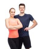 Homme et femme folâtres heureux Image stock