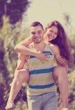 Homme et femme heureux Photo libre de droits