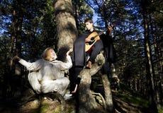 Homme et femme médiévaux Photo libre de droits