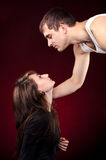 Homme et femme regardant l'un l'autre Images stock