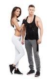Homme et femme sportifs Couples de forme physique Personnes de Spotrs Photos stock