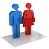Homme et femmes Photo libre de droits