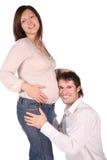 Homme et fille enceinte. Image stock