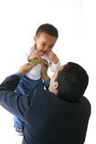 Homme et fils d'affaires Photo stock