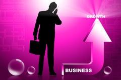 Homme et flèche d'affaires Image stock