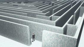 Homme et labyrinthe Photo libre de droits