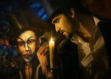 Homme et peinture Photos libres de droits