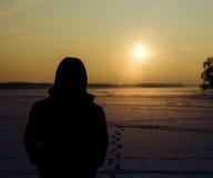 Homme et Sun Photographie stock