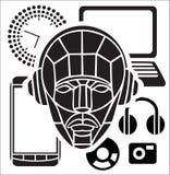 Homme et transmissions illustration de vecteur