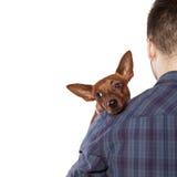 Homme et un chien Photographie stock libre de droits