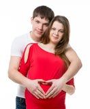 Homme et un femme enceinte Image stock