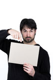 Homme et un signe Image libre de droits
