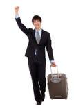 Homme et voyage d'affaires. Image stock
