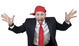 Homme Excited Images libres de droits