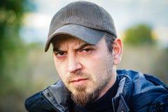 Homme fâché photographie stock libre de droits