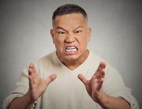 Homme fâché criant Image libre de droits