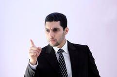 Homme fâché d'affaires images stock