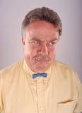 Homme fâché de Bowtie Images libres de droits