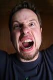 Homme fâché et fol Photographie stock libre de droits