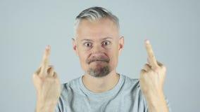 Homme fâché, jeunes, banque de vidéos
