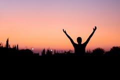 Homme félicitant en nature Images libres de droits