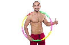 Homme faisant des excecises Image stock