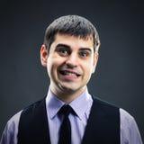 Homme faisant des visages photographie stock libre de droits