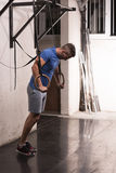 Homme faisant l'exercice de plongement Photo libre de droits