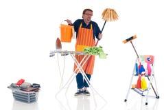 Homme faisant le ménage Photos stock