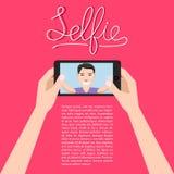 Homme faisant le selfie illustration libre de droits