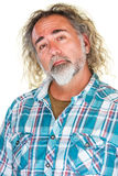 Homme fier dans la chemise de flanelle Images libres de droits