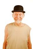 Homme fol dans le chapeau de chapeau melon Photos stock