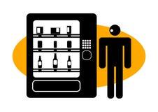 Homme graphique à un distributeur automatique illustration libre de droits