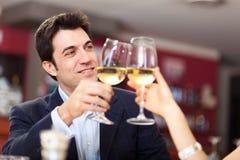 Dîner dans un restaurant de luxe Image stock