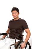 Homme handicapé par fauteuil roulant Photo libre de droits
