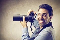 Homme heureux Photo stock