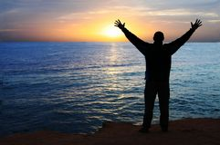 Homme heureux Images libres de droits