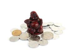 Homme heureux avec des pièces de monnaie Images libres de droits