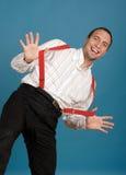 Homme heureux d'affaires Images stock