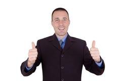 Homme heureux d'affaires photos stock