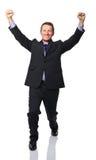 Homme heureux d'affaires Images libres de droits
