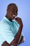 Homme heureux d'affaires d'Afro-américain Image stock