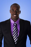 Homme heureux d'affaires d'Afro-américain Photos stock