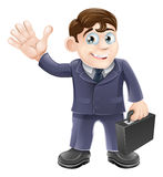 Homme heureux d'affaires de dessin animé Images stock