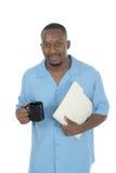 Homme heureux d'affaires sur la rupture 3 Photos stock